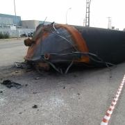 Estado del tanque en el incendio de Paterna Indukern